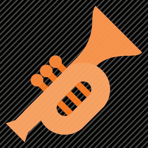 horm, instrument, music, play, tromp, trompet icon