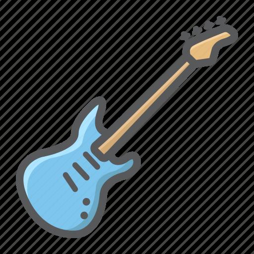 Bass Electric Guitar Instrument Jazz Music Sound Icon