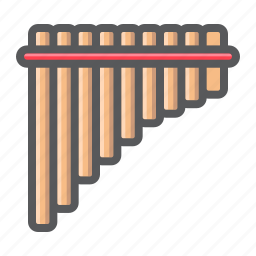 flute, instrument, mexican, music, pan, panpipe, sound icon
