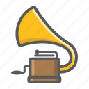 audio, gramophone, music, phonograph, record, retro, vinyl icon
