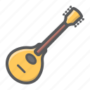 acoustic, folk, guitar, instrument, mandolin, music, sound icon