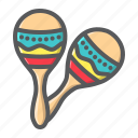 sound, latin, mexican, maraca, instrument, music, maracas