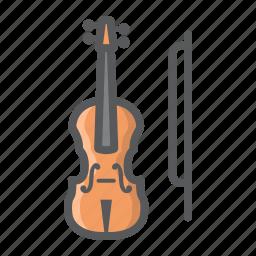 fiddle, instrument, melody, music, orchestra, sound, violin icon