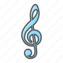 clef, key, melody, music, note, sign, treble