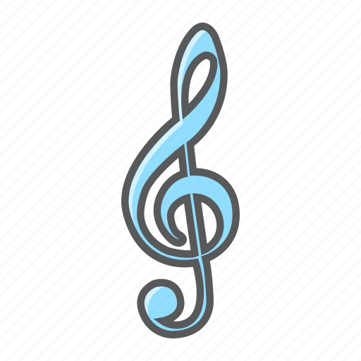 clef, key, melody, music, note, sign, treble icon