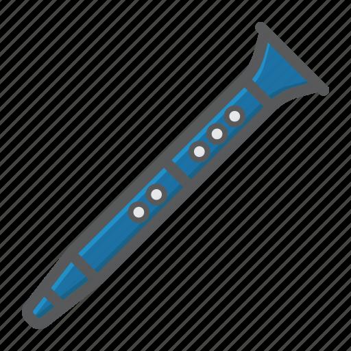 acoustic, clarinet, instrument, jazz, melody, music, sound icon