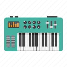 analog, digital, instrument, music, piano, play, synthesizer icon