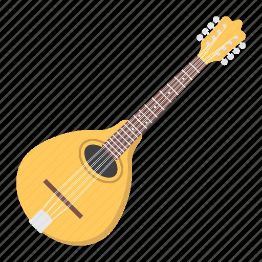 acoustic, folk, guitar, instrument, mandolin, music, sound icon