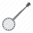 banjo, country, folk, guitar, instrument, music, sound icon