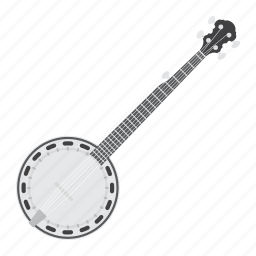 banjo, country, folk, guitar, instrument, music, sound icon