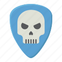 guitar, music, pick, play, rock, skull, sound icon