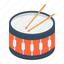 beat, drum, drumstick, instrument, music, snare, sound icon