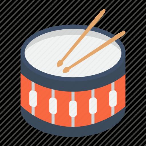 Beat, drum, drumstick, instrument, music, snare, sound icon - Download on Iconfinder