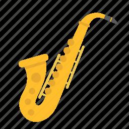 classic, instrument, jazz, melody, music, saxophone, sound icon