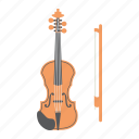 fiddle, instrument, melody, music, orchestra, sound, violin icon