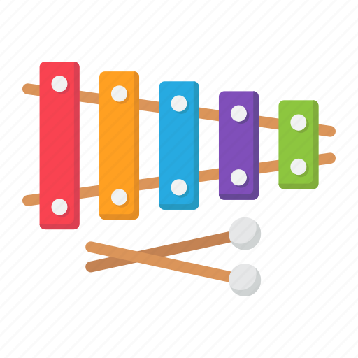 education, instrument, music, play, sound, toy, xylophone icon
