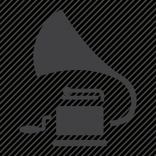 audio, gramophone, music, phonograph, record, retro, vinyl icon