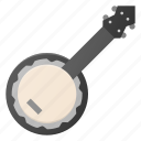 benjo, instrument, music, play icon