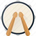 drum, instrument, music, play, stick icon