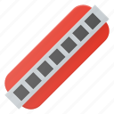 harmonica, instrument, music, play icon