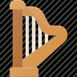 harph, instrument, music, play icon