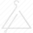 instrument, music, play, triangulum icon