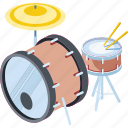 graphic, equipment, tone, march, jazz, illustration, beat, isolated, rock, stick, musical, black, entertainment, background, 3d, snare, audio, media, song, group, kit, flat, object, web, design, symbol, sign, white, sticker, band, isometric, rhythm, art, music, silhouette, noise, kick, drum, element, concert, instrument, vector, bass, shadow, percussion, party, modern, roll, sound