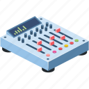 audio, background, black, button, closeup, club, console, control, dance, design, desk, digital, disc, disco, dj, electronic, entertainment, equalizer, equipment, flat, group, illustration, isolated, isometric, level, logos, media, mix, mixer, mixing, music, musical, panel, party, people, player, professional, record, remote, set, sound, soundboard, stereo, studio, symbol, technology, turntable, vinyl, volume, white