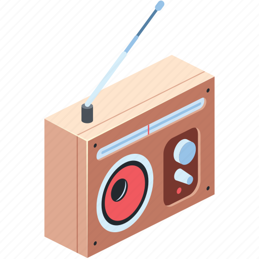 Antenna, audio, background, broadcast, button, color, colorful icon - Download on Iconfinder