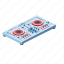 mixer, graphic, equipment, panel, studio, button, volume, line, isometric, sign, stereo, club, musical, record, entertainment, background, audio, mixing, group, dancing, flat, color, object, illustration, control, equalizer, design, symbol, vinyl, white, disco, controller, logo, turntable, music, technology, disc, sampler, element, cd, electronic, set, radio, techno, pitch, player, sound, jockey