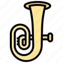 instrument, multimedia, music, musical, orchestra, tuba, wind icon