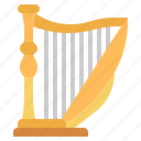 harp, instrument, lyre, multimedia, music, orchestra, string
