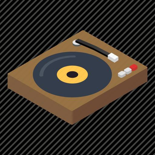 console, dj, isometric, mixer, music, stereo, techno icon