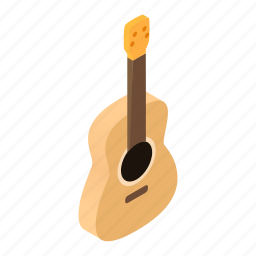 acoustic, band, classical, guitar, isometric, music, musical icon