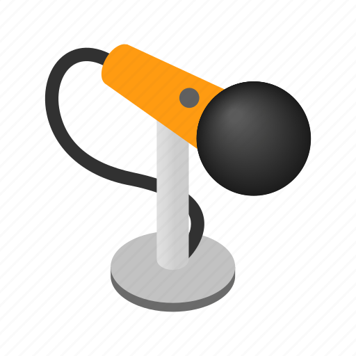 Sound, isometric, microphone, equipment, speech, radio, audio icon