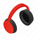 headphone, headset, isometric, listen, meloman, music, sound icon