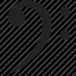 bass, key, music, sheet music icon