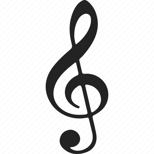 music, music note, sheet music, treble, treble clef icon