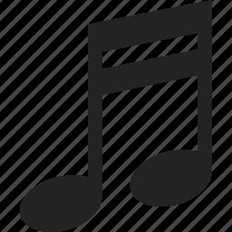 audio, music, music note, sheet music, sound icon