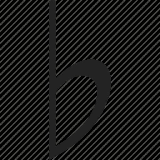 flat, music, music flat, music note, sheet music icon