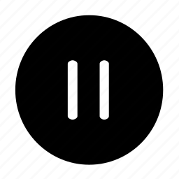 pause, round icon
