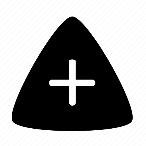 plus, triangle icon