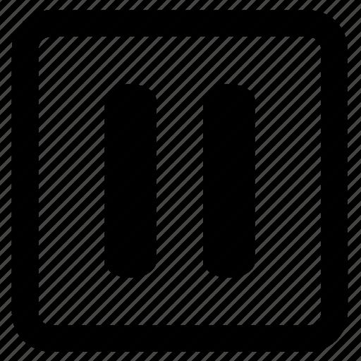 audio, media, music, pause, speaker, stop, volume icon