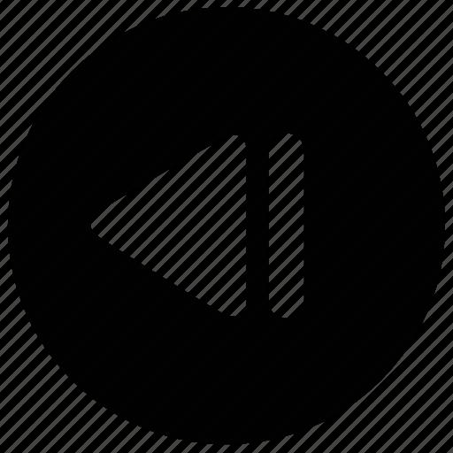 arrow, back, fast backward, left, multimedia, music, sound icon