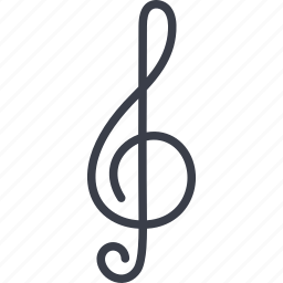 audio, music, musical sign, sound, treble clef icon