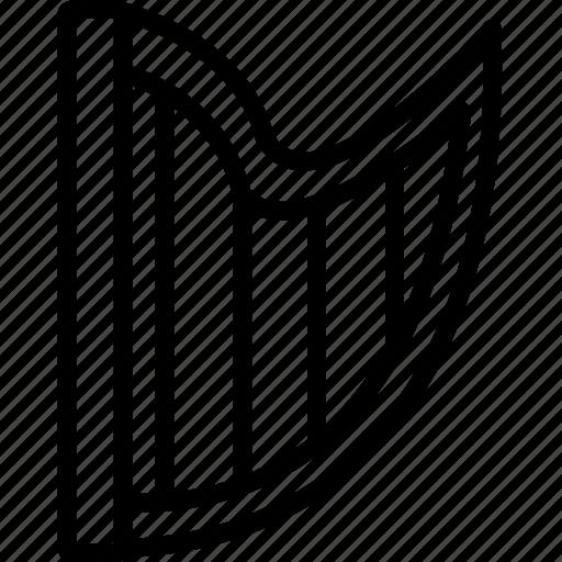 finger, harp, nylon, performance, string icon