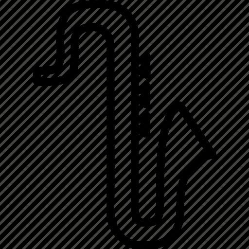 brass, instrument, jazz, saxophone icon