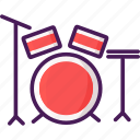 band, beat, drum, hit, kit, rhythm icon