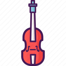instrument, plucking, string, violin icon