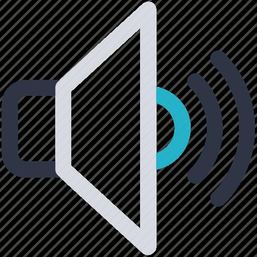 multimedia, speaker, volume, volume up icon icon